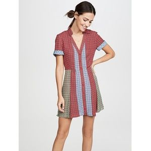 Alice and Olivia Abelia button cherry shirt dress